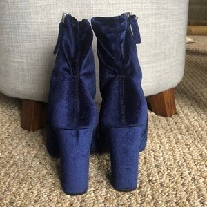 Steve Madden Shoes - Steve Madden Edit Velvet Booties